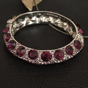 Luxury Burgundy Color Crystals Bracelet